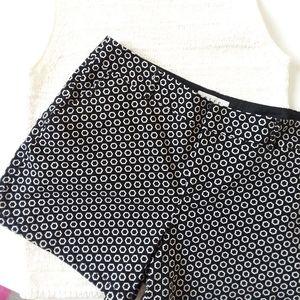 NWOT Elle Toulon Geo Black white floral shorts